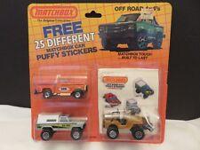 Matchbox Off Road 4x4's Car 3 Packs Puffy Stickers Big Foot Baja Bouncer Jeep B