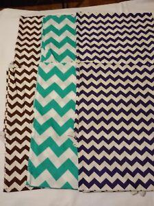 52x22 Standard Daycare cot sheets  cheveron   print set of 6