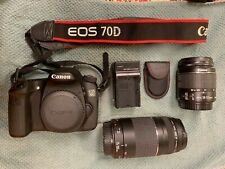Canon EOS 70D  Digital SLR Camera with 18-55mm & 75-300mm lenses