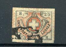 Schweiz Switzerland 1850 Winterthur 2 1/2 Rappen Rp Mi 4 SBK Znr. 12, mit Befund
