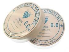 10 Metros Transparente Molduras elástico 0,6 mm Stretch Hilo Cable de la fabricación de joyas