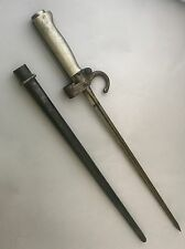 "WWI French Bayonet Mle. 1886-93, marked, Lebel Cruciform 19.5"" Bayonet"