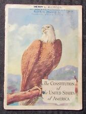 Vintage THE CONSTITUTION of USA John Hancock Life Insurance Co. VG- 3.5 Booklet