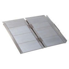 """Folding Aluminum Ramp W/Handle for Wheelchairs/Scooters/Pet Mobility 24"""""""