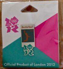London 2012 Olympic Lapel Pin Badge ~ Pictogram ~ Basketball ~ Gamesmark Logo