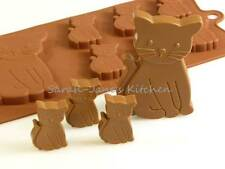6 +1 GATTO / Gattini CIOCCOLATO STAMPO IN SILICONE CAKE TOPPER Cera Crayon ANIMALI PET