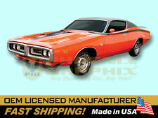 1971 Dodge Super Bee Large Hood Sides Cowl Bees COMPLETE Decals & Stripes Kit