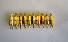 Magnetic Clasps Gold Plate/tone x 10 Jewellery Making Craft Supplies deezbeadz