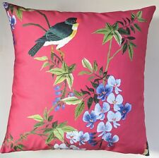 """Cushion Cover in Next Black Etched Bird 16/"""" Matches Curtains"""