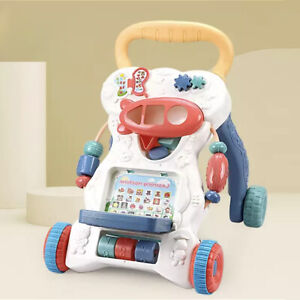 2in1 Baby Walker First Steps Activity Bouncer Musical Toys Car Along Ride  On Go