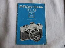 Instructions 35mm SLR camera PRAKTICA TL3   - CD/Email