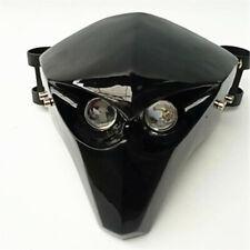 Motorrad Carbon Fiber LED Scheinwerfer Verkleidung Skelett Schädel Scheinwerfer