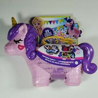 Polly Pocket Rainbow Unicorn Surprise Party Large Compact Playset NEW