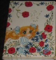 1 QUADERNO SCUOLA VINTAGE 80 NOTEBOOK COVER CANDY CANDY FIORI ROSE ROSSE FLOWERS