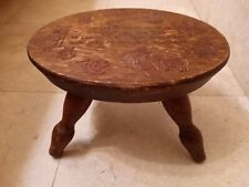 Vintage This Little Stool Is Mine Child Country Wooden Bench Step Stool.