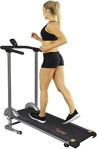 Sunny Health & Fitness SF-T1407M Manual Walking Treadmill with LCD