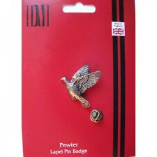 B34 Woodpigeon bird English Pewter Lapel Pin Badge XTSPBB34