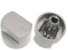 2 x Silver Knob Switch for STOVES 61EDO 61EHDO BL ST WH Oven Hob Cooker Knobs
