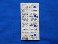 Vintage $4.00 Waukegan Drive-In Theatre Tickets (Strip of 4) Movie/Cinema - IL