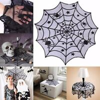 Halloween Party Dinner Tablecloth Black Lace Web Party Tabletop Decoration ONE