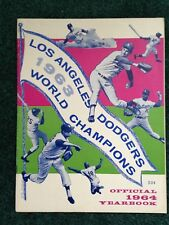 LOS ANGELES DODGERS 1963 WORLD CHAMPIONS OFFICIAL 1964 YEARBOOK IN PROTECTIVE VI