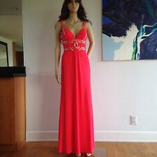 NWT Betsy & Adam Coral Evening Formal Prom Gown Dress Size 2