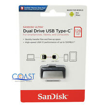 Sandisk Ultra Dual Drive USB Type C 128GB For Computer and Mobile Devices