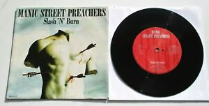 "Manic Street Preachers - Slash 'N' Burn 1992 Columbia 7"" Single P/S"