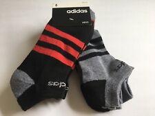 New Mens Adidas Aeroready Dri Sport Daily Street 6 Pack Low Cut Socks Black/Gray
