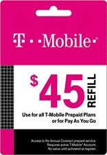 T-Mobile  Prepaid $45 Refill Top-Up Prepaid Card, Fast service!