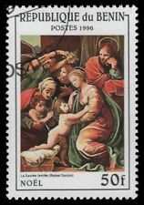 """BENIN 837 - Christmas """"The Holy Family"""" by Raphael (pf34386)"""