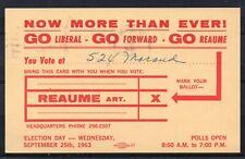 CANADA = 1963 Municipal Elections PTPO Postcard.