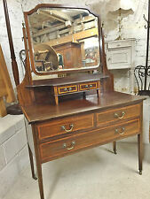 Antique Style Dressing Tables with 4 Drawers and Over