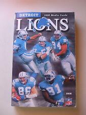2000 DETROIT LIONS NFL MEDIA GUIDE VGC L@@K!