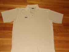Under Armour Short Sleeve Tan Polo Shirt Mens Xl Nice Condition