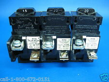 Lot of 3 - Pushmatic 15 & 20 Amp 1 Pole ITE Siemens Breakers 1- P115 &  2- P120