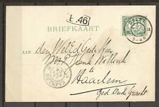 Nederland - Briefkaart Delft naar Haarlem - WA029