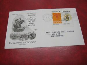 CANADA Unitrade# 564-5 8c FDC PLAINS INDIANS TILLSONBURG,ONT.4 X 1972
