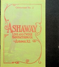 Super Rare Vintage 1905 #2 Ashaway Antique Fishing Line Catalog 30 Pages JEM244