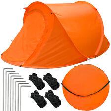 2 Personen Campingzelt Wurfzelt Popup Trekking Zelt Automatik mit Tasche Zubehör