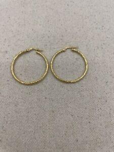 Gold Earrings 14K Yellow Gold 1.1dwt (PC0000526)