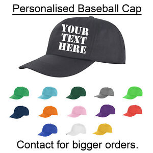 Personalised Printed Or Embroidered Baseball Cap Custom Made Work Stag Adults