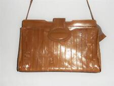 GORGEOUS Blonde TAN Genuine EEL SKIN Vintage CLUTCH PURSE Shoulder Bag ~Korea