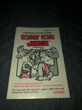 Coleco Atari 2600 Gemini Donkey Kong Jr Manual Only FREE SHIPPING!!!
