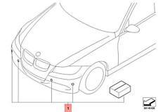 Genuine BMW M3 CRT E90 E91 Retrofit Kit Park Distance Control Front 66200399629