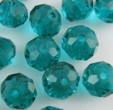 Hazlo TÚ MISMO Joyería Cristal Facetado 146 un. 3x4mm Pavo real verde facetado granos flojos