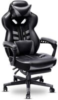 OFFICE GAMING COMPUTER DESK CHAIR RECLINER RACING HIGH-BACK SWIVEL PC TASK SEAT