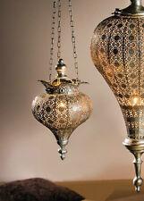 Hänge-Windlicht Fata Morgana in antikem Silberton, Kerzenhalter, Teelichthalter