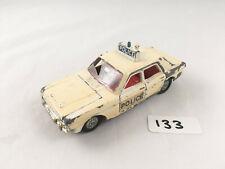 VINTAGE DINKY TOYS #255 FORD ZODIAC POLICE PATROL CAR DIECAST WHITE 1967-71