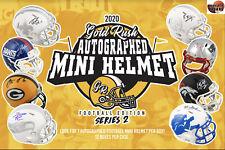 DALLAS COWBOYS 2020 GOLD RUSH #2 AUTOGRAPHED MINI HELMET 1BOX Break